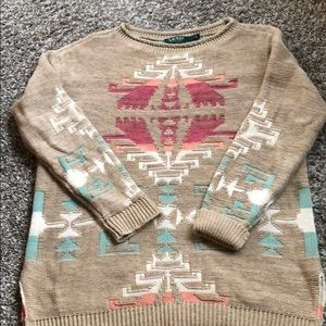 Eye Catching Lauren Sweater with Tribal Design